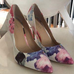Charles by Charles David fabric floral heels